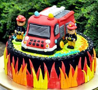 Happy Birthday Fireman Cake